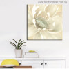 Winter Blooms Abstract Watercolor Painting Canvas Print