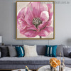 Zinnia Elegans Abstract Watercolor Botanical Painting Print