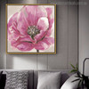 Zinnia Elegans Abstract Watercolor Botanical Painting Canvas Print for Lounge Decor