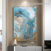Auric Solution Abstract Landscape Modern Smudge Photo Canvas Print for Room Wall Arrangement