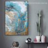 Auric Solution Abstract Landscape Modern Smudge Picture Canvas Print for Room Wall Decoration
