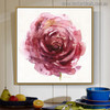 Garden Roses Abstract Modern Watercolor Floral Painting Print for Living Room Decoration