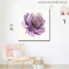 Purple Rose Abstract Modern Watercolor Floral Painting Canvas Print