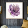 Purple Rose Abstract Modern Watercolor Painting Canvas Print for Living Room Decoration