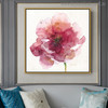 Red Poppy Abstract Watercolor Painting Print for Living Room Ornament