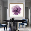 Purple Rosette Abstract Modern Watercolor Painting Canvas Print for Dining Room Decor