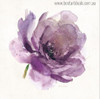 Purple Rose Abstract Modern Watercolor Painting Canvas Print