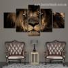 King Lion Animal Nature Modern Smudge Photo Canvas Print for Room Wall Decor