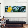 Pile Tree Leaves Botanical Abstract Modern Artwork portrait Canvas Print for Room Wall Ornament