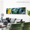 Pile Tree Leaves Botanical Abstract Modern Artwork Picture Canvas Print for Room Wall Adornment