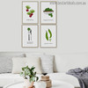 Green Veggie Modern Typography Wall Art