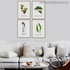 Green Veggie Modern Typography Painting Print for Living Room Decor