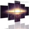 Galaxy Space Nature Landscape Modern Framed Smudge Image Canvas Print