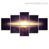 Galaxy Space Nature Landscape Modern Framed Smudge Photo Canvas Print
