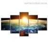 Universe Sunshine Nature Landscape Modern Framed Effigy Picture Canvas Print