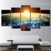 Stars And Planets Nature Landscape Modern Framed Portraiture Image Canvas Print For Room Wall Décor