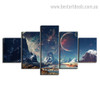 Mountains And Space Nature Landscape Modern Framed Effigy Image Canvas Print