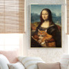 Mona Lisa IV Figure Renaissance Artwork Photo Canvas Print for Room Wall Décor