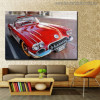 Red Car Modern Travel Painting Print for Living Room Decor