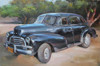 Antique Car Abstract Modern Travel Painting Print