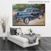 Antique Car Abstract Modern Travel Wall Art for Living Room