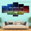 Soccer Stadium City Modern Artwork Portrait Canvas Print for Room Wall Ornament