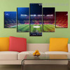 Soccer Stadium City Modern Artwork Photo Canvas Print for Room Wall Adornment
