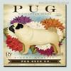 Pug Animal Botanical Modern Typography Painting Print