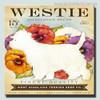 Westie Animal Botanical Modern Typography Painting Canvas Print
