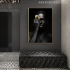 Dark Woman Modern Figure Painting Canvas Print for Living Room Wall Decor
