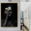 Dark Woman Modern Figure Painting Canvas Print for Room Wall Assortment