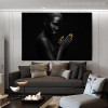 Black Distaff Modern Figure Painting Picture Print for Living Room Wall Disposition