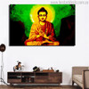 Mahatma Buddha Religious Modern Painting Print for Room Wall Finery