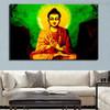 Mahatma Buddha Religious Modern Painting Print for Lounge Room Wall Flourish
