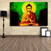 Mahatma Buddha Religious Modern Painting Print for Living Room Wall Adornment