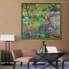 The Iris Garden at Giverny Botanical Impressionist Reproduction Oscar Claude Monet Painting Canvas Print for Lounge Room Wall Assortment