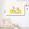 Citrus Limon Bicycle Abstract Modern Food & Beverage Painting Canvas Print for Living Room Decor