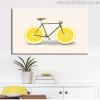 Citrus Limon Bicycle Abstract Modern Food & Beverage Painting Canvas Print for Home Wall Outfit