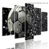 Soccer Disintegration Sports Abstract Modern Artwork Photo Canvas Print for Room Wall Décor