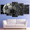 Soccer Disintegration Sports Abstract Modern Artwork Image Canvas Print for Room Wall Garniture