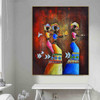 Aboriginal Figure Contemporary Painting Canvas Print for Room Wall Tracery