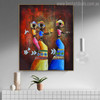 Aboriginal Figure Contemporary Painting Canvas Print for Room Wall Getup