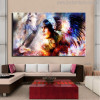 Aborigines Animal Bird Figure Modern Painting Canvas Print for Lounge Room Wall Equipment