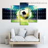 Shiny Soccer Sport Abstract Modern Artwork Picture Canvas Print for Room Wall Adornment