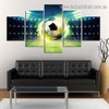 Shiny Soccer Sport Abstract Modern Artwork Photo Canvas Print for Room Wall Ornament