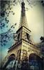 Eiffel Tower Modern Cityscape Painting Canvas Print