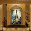 Eiffel Tower Modern Cityscape Painting Canvas Print for Lounge Room Wall Decor