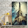 Eiffel Tower Modern Cityscape Painting Canvas Print for Living Room Wall Getup