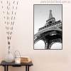 Monochrome Eiffel Tower Modern Cityscape Painting Canvas Print for Room Wall Assortment
