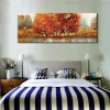 Grassland Abstract Modern Landscape Hand Painted Painting Canvas Print for Bedroom Wall Ornament